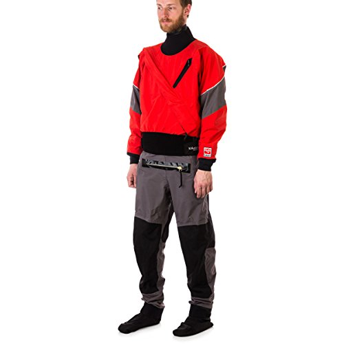 Kokatat Men's GORE-TEX Meridian Drysuit-Chili/Gray-S