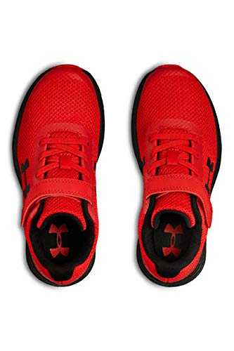 Under Armour Boys' Pre School Surge RN Alternate Closure Sneaker, Red (600)/Black, 3 by Under Armour (Image #7)
