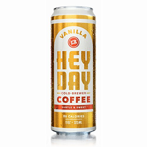 HEYDAY | Cold-Brew Coffee | Unblemished Trade Certified | Non-GMO | Vanilla | 11oz (12 Count)