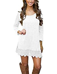 Our Precious Women's Long Sleeve Tunic Lace Stitching...