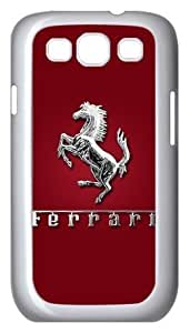 Case for Samsung Galaxy S3 USA FERRARi Emblem Sport Car Aluminum Metal Samsung S3 I9300 Case Cover at Luckyshopping Store
