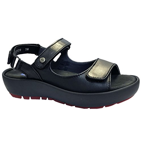 Wolky Leather Womens Rio Black Sandals rwrA4qC