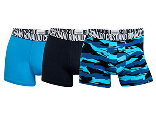 CR7 Men's Cristiano Ronaldo Multi Cotton Stretch Trunk - 3 Pack, Black Multi, Medium CR7 Cristiano Ronaldo 8110-49-2751