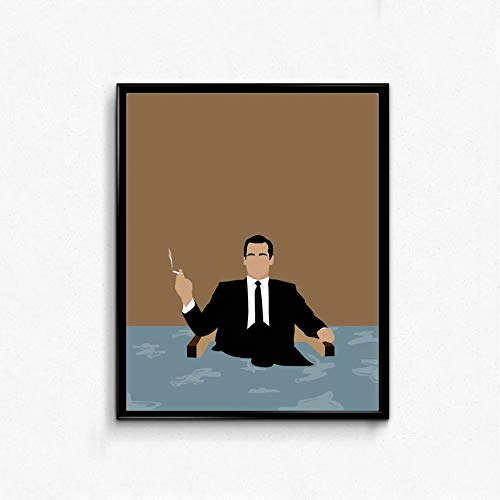 MugKD LLC Don Draper Minimalist Poster Mad Men TV Show Art Movies Poster Gifts for Fan [No Framed] Poster Home Art Wall Posters for $<!--$22.95-->
