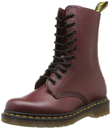 Dr. Martens 1490 - Botas militares, talla: negro, color: 39 Rojo (Rouge (Cherry Red))
