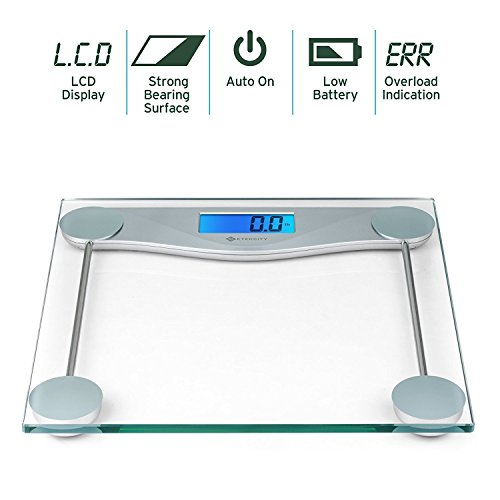 Etekcity Digital Body Weight Bathroom Scale With Body Tape Measure Tempered Glass 400 Pounds