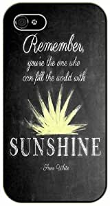iPhone 6 Remember you are the one who can fill the world with sunshine - Snow White - black plastic case / Inspiration Walt Disney quotes