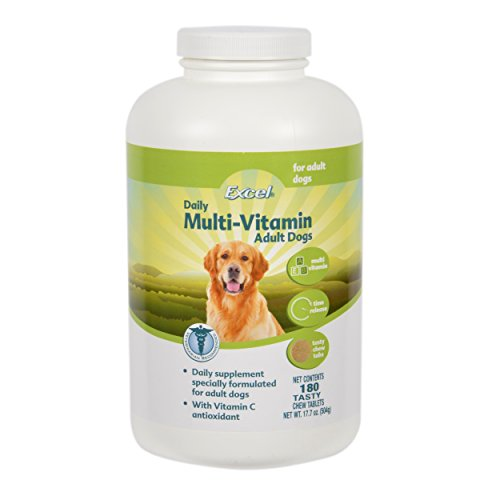 8in1 Excel Daily Multi-Vitamin for Adult Dogs, 180-Count