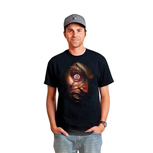 [Morphsuits Men's Frantically Moving Eyeball Digital Dudz Shirt, Black, Large] (Cool Morphsuit Costumes)
