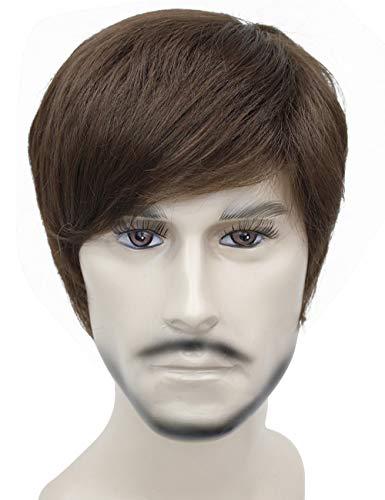 Kalyss Men`s Short Light Brown Hair wigs