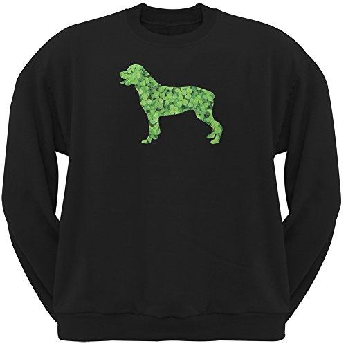 Animal World ST. Patricks Day - Rottweiler Shamrock Black Adult Sweatshirt - X-Large (Rottweiler Adult Sweatshirt)