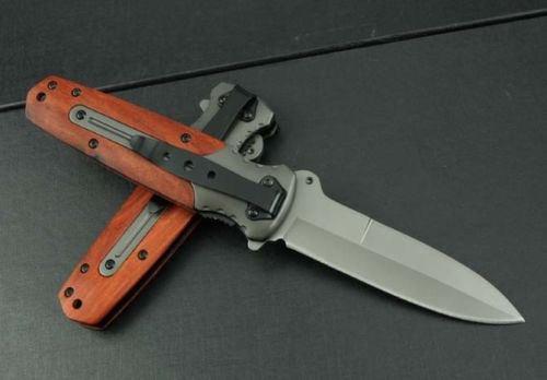 Assisted Opening Blade Knife Pocket Saber Sharp Outdoor Camping Hunting
