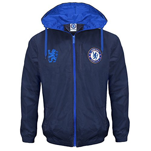 Chelsea Football Club Official Soccer Gift Mens Shower Jacket Windbreaker Large ()