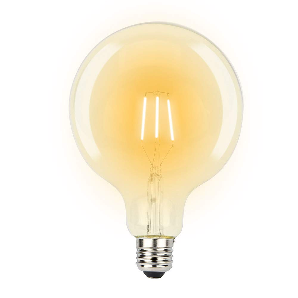 Edison Retro Light Bulb Dimmable Led Edison Light Bulb Tungsten Filament Light Bulbs G80 Vintage Led Lamp 4W E27 Edison Tungsten Starlight Bulb for Christmas Home Decor 1PC (A)