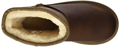Classic Scarpe Short Collo a UGG Leather Alto Unisex Bambini Chestnut Marrone Australia x57FqwI