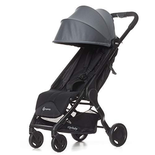 Ergobaby Metro Lightweight Baby Stroller, Compact Stroller with Easy One-Hand Fold, Gray, 2020 Model