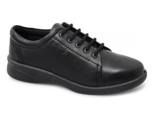 Padders Refresh Damen Schnürhalbschuhe Noir - Black Leather
