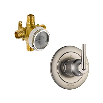 Delta Delta KDVDTR-2-T11859-SS Trinsic Diverter Valve Kit 3-Settings, 2-Ports, Brilliance Stainless Brilliance Stainless