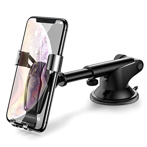 Cell Phone Holder for Car, Ainope Universal Dashboard Cell Phone Holder Gravity Auto-Clamping Car Cradle Mount Adjustable Car Holder Compatible iPhone X/ 8/7/ 6s/ Plus, Samsung Note 9/ S9/ S8/ S7/ S6 ()
