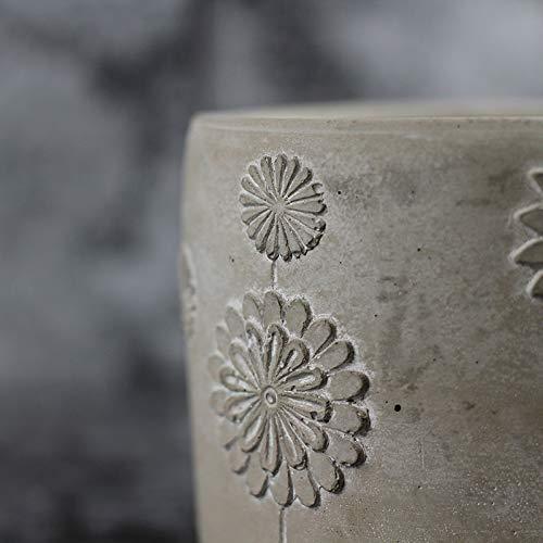 Nicole Cement Flowerpot Silicone Mold Pen Barrel Desktop Decoration Tool by nicole (Image #3)