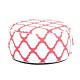 QILLOWAY Indoor/Outdoor Inflatable Stool,Round Ottoman,Foot Rest for Kids or Adults, Camping or Home (Simple RED)