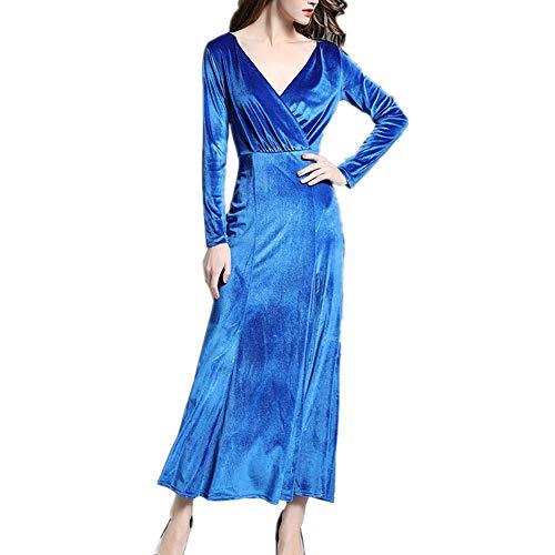 soire Taille de Blue Isbxn Robe Blue XXL lgante Color temprament Haute Size Femmes Jupe qwEYA