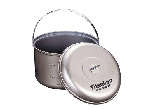 EVERNEW Titanium Non-Stick Pot with Handle 5.8L