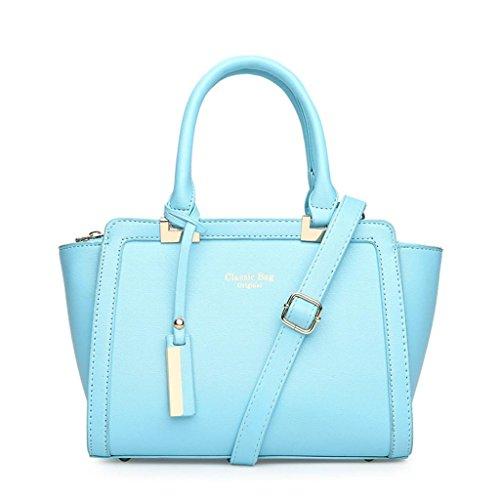 NVBAO Lady Bag PU Cuoio Litchi Grain Fashion Borsa Messenger Bag Borsa a tracolla singola Tre colori Una donna deve avere un prodotto, grey water blue
