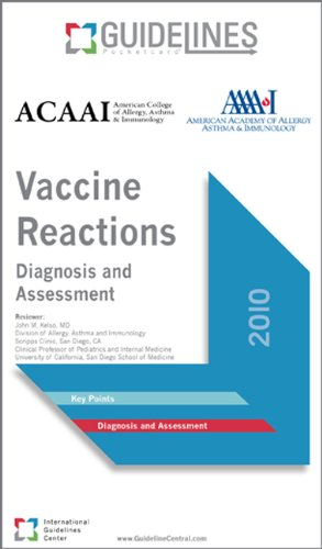 Vaccine Reactions GUIDELINES Pocketcard: Diagnosis and Assessment (2010)