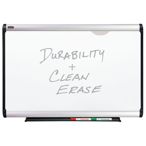 Plus Magnetic Total Erase Porcelain - Quartet Prestige Plus Magnetic Total Erase Porcelain Boards, 4 x 3 Feet, Aluminum Frame (P554A)