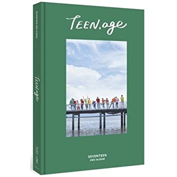 SEVENTEEN 2nd Album TEEN, AGE Green ver  CD+120p PhotoBook+Lyrics  Paper+PhotoCard+Portrait Desktop Stand+Folding Poster (ON PACK)+Name  Sticker Sealed