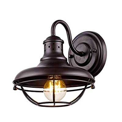 Dazhuan Vintage Metal Cage Outdoor Wall Light Exterior Wall Lantern Wall Sconce Lamp Oil Rubbed Bronze Finish