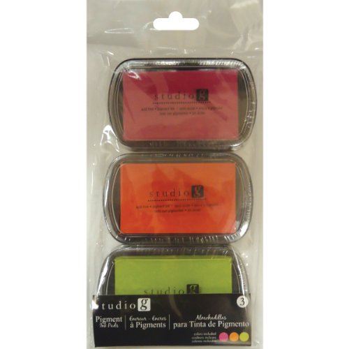 Hampton Art Pigment Ink Pads, Warmth, 3-Pack