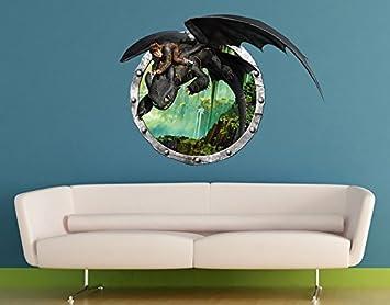Wandtattoo Dragons Hicks und Ohnezahns Abenteuer Wandsticker Kinderzimmer Kind