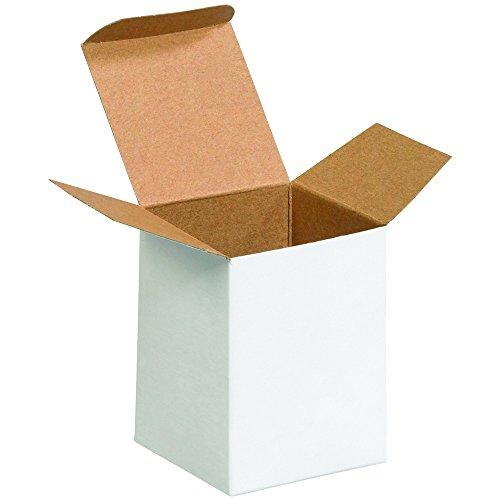4 White Reverse Tuck Folding - Aviditi RTS21W Reverse Tuck Folding Cartons, 3