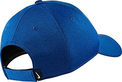 NIKE Men's AeroBill Heritage86 Adjustable Hat (Gym Blue/White, OneSize)