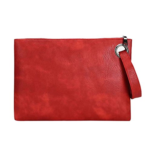 Womens Use Watermelon Bag Causal Hand Bag and Clutch Espeedy Colors Evening Envelope Class trendy Bags Shoulder Business Envelope Leather for Handbag Purse Clutch Various red Women q8wgAf