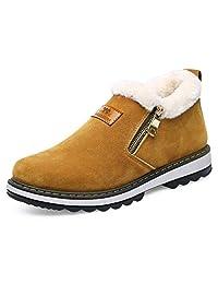 GLSHI Hombres Zapatos para Nieve Al Aire Libre 2018 Otoño Invierno Algodón Zapatos Antideslizante Desgaste Resistente Más Terciopelo Cálido