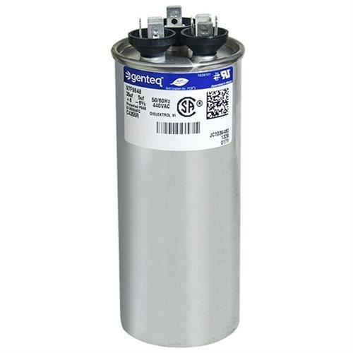 100335-06 - 35 + 5 uf MFD 440 Volt VAC - Lennox Round Dual Run Capacitor Upgrade
