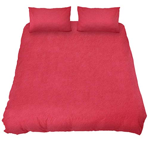 Dragon Sword Bright Red Texture Bed Sheet Set - 3 Piece Microfiber Comforter Set Quilt Cover and 2 Pillow Shams for Men Women Dragon Red Bed Sheet