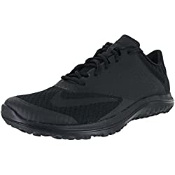NIKE Men's FS Lite 2 Running-Shoes, Black/Black/Black, 8.5 D US