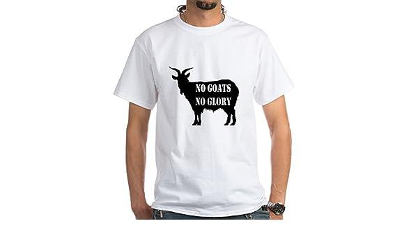 b5aa0da1ece6 Amazon.com: CafePress No Goats no Glory Invisible Text Cotton T-Shirt:  Clothing