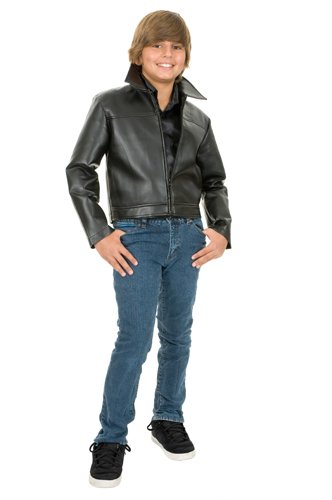 Grease Leather Boys Size 4-6 XS Movie Halloween Jacket (Child Grease)