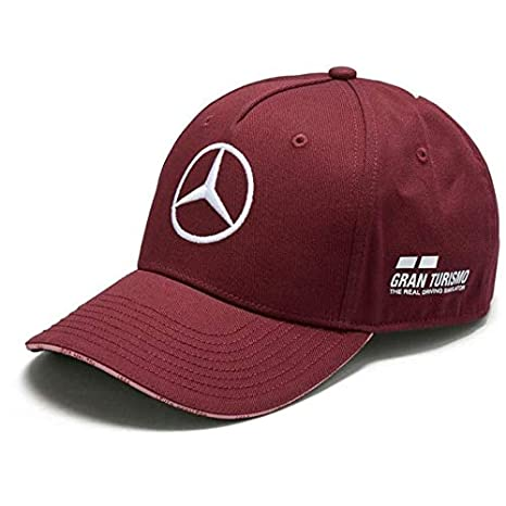 b6964a4eb83 Image Unavailable. Image not available for. Color  Mercedes Benz F1 Special  Edition Lewis Hamilton 2018 Singapore Wine Red Hat