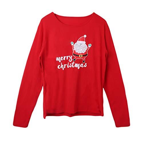 da Genitore da Bambino Bambini Pigiama Abito Indumenti Casa Xmas da Mamma Abbigliamento zhxinashu Adulti Natale Manica Notte Famiglia Lunga Imposta Notte Iwp5S