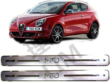 TDPQR 2 Pezzi Acciaio Inox Battitacco per Auto,per Alfa Romeo Mito Pedale Protettore Decorazione Accessori