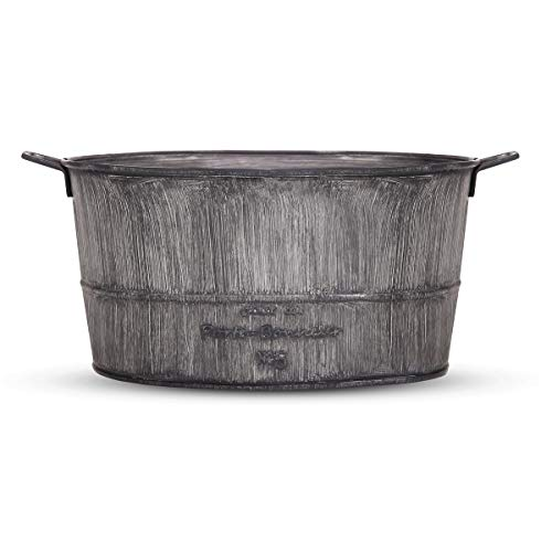 Galvanized-Flower-Pot