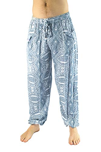 PIYOGA Men's Lounge and Bohemian Yoga Pants, Stretches for Sizes M to XL (30-38)
