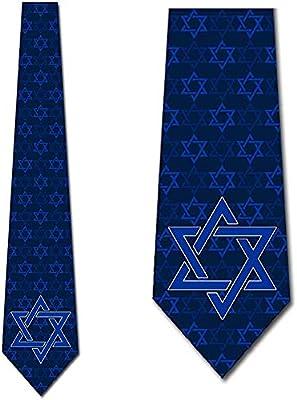 Corbatas Religiosas Corbata Azul Estrella de David Para Hombre Por ...