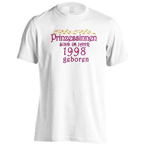 Prinzessinnen sind im jahr 1998 geboren Herren T-Shirt cc24m